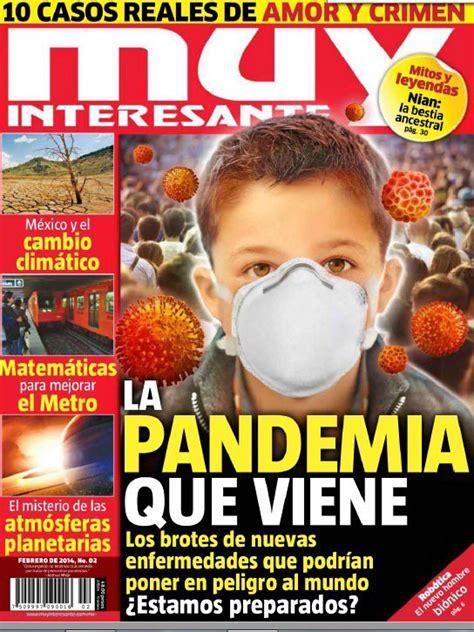 La pandemia que viene [2014]. El siguiente artículo sobre ...