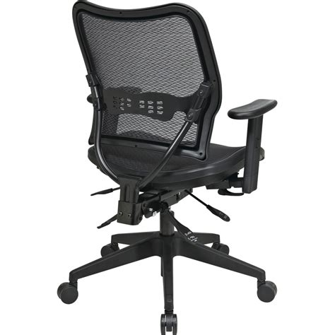 office deluxe air grid seat back chair black 20