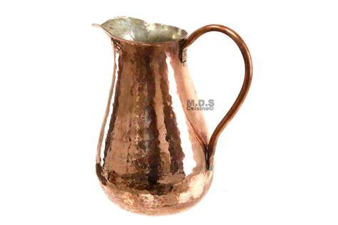 pitcher jar  copper hammered handcrafted  oz pitcher kitchen restaurant supplies