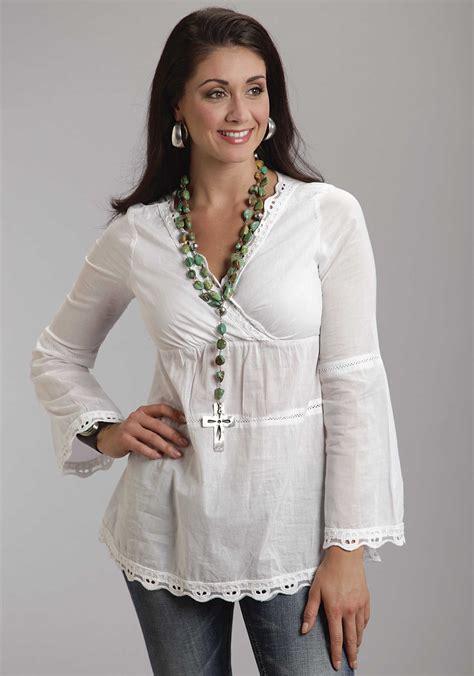 white cotton blouse stetson 39 s white cotton voile lace trim