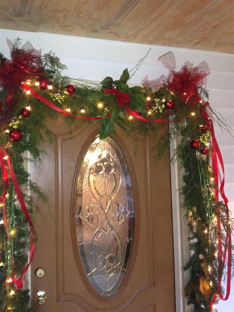 door decorations christmas garland pinterest