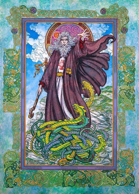 Celtic Irish Christian Art - St. Patrick Painting by Jim ...
