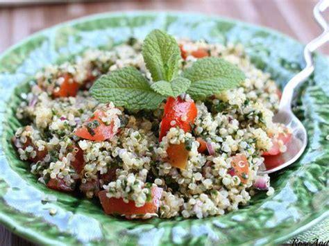 recettes de taboule de quinoa  menthe