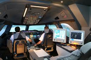 Airbus A380 Cockpit View