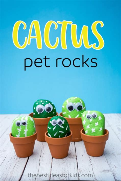 40 best easy crafts and diy for 268 | Pet Cactus Rocks