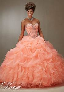 quinceanera dress vizcaya morilee 89075 ruched organza With robe couleur corail