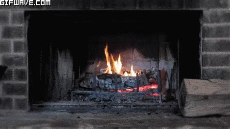 winter fireplace gif winter fireplace snow discover