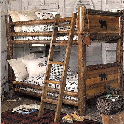 kids cabin theme bedrooms rustic decor   house