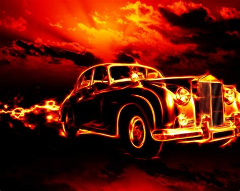 Fire Classic Car Hd Wallpapers For Desktop 2880x1800