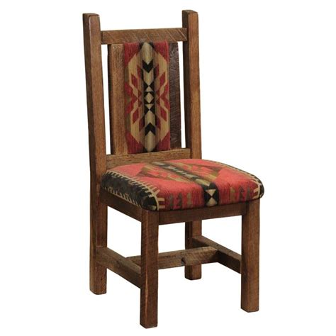 barnwood upholstered side chair set of 2 western dining