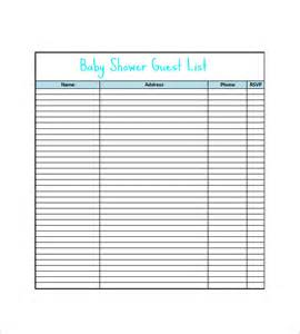 wedding shower registry checklist baby shower gift list template 8 free word excel pdf