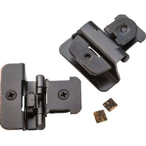 14 Overlay Oil Rubbed Bronze Double Demountable Hinges