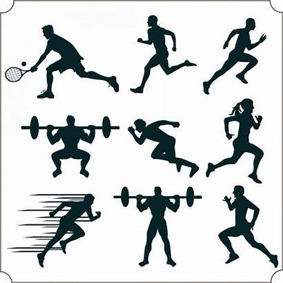 Silhouette Sports Vector Athlete Icon Icons Various