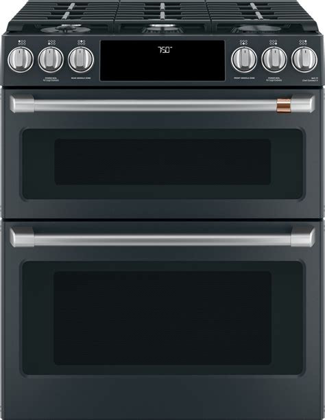 cgspmd cafe    double oven gas range matte black