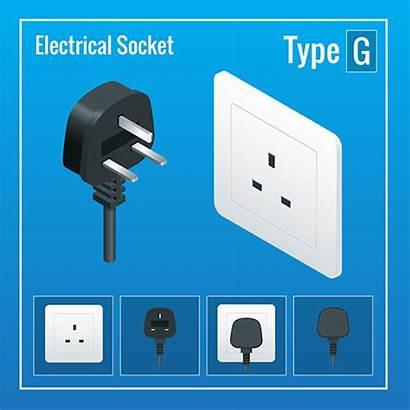 Plug Socket Power Dubai Type Adapter Electrical