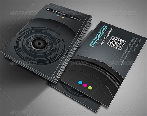 cool photographer business cards psd  examples ginva