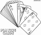 Playing Coloring Pages Cards Deck Poker Card Joker Template Jawar Playingcards sketch template