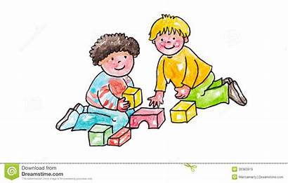 Sharing Clipart Toys Children Playing Fun Friends