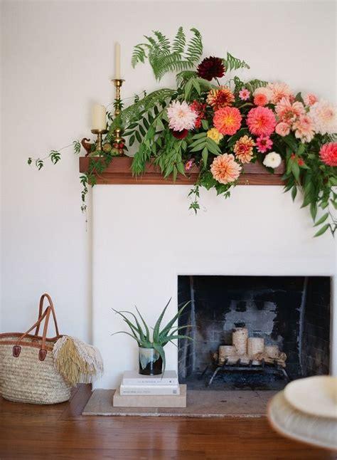 dramatic fireplace mantel flowers fireplace mantels