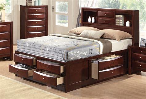 limerick transitional  pc storage queen platform bed set