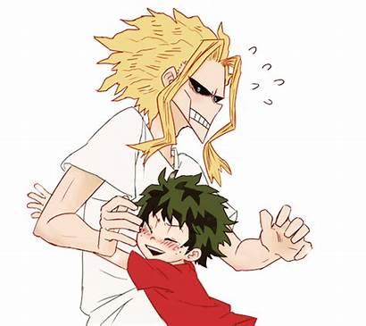 Academia Hero Deku Dad Son Might Izuku