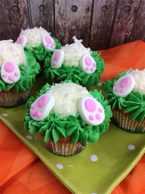 Easter Bunny Butt Cupcakes Recipe Plum Crazy