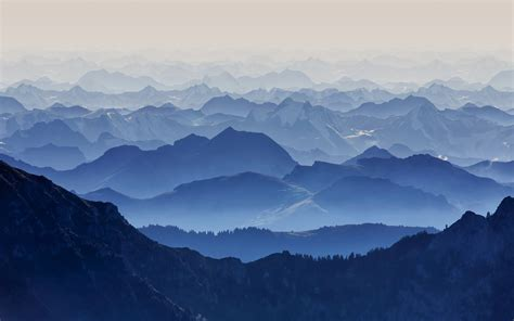 mountain, Blue, Landscape, Nature Wallpapers HD / Desktop ...