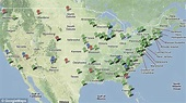 The map that shows where America's 5,000 nuclear warheads ...
