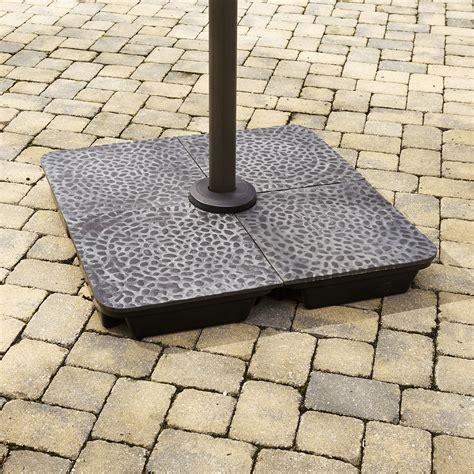 garden oasis offset umbrella base kit cobblestone