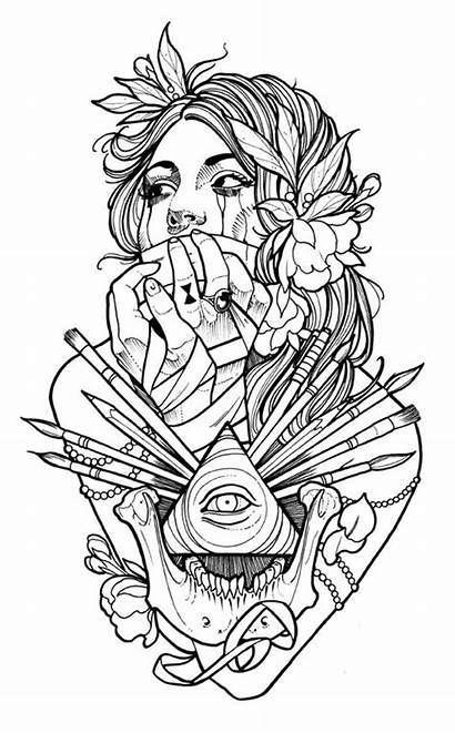 Coloring 2nd Project Edition Tattoo Colouring Books