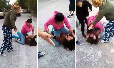 video shows mexican teen girl beating rival  slamming