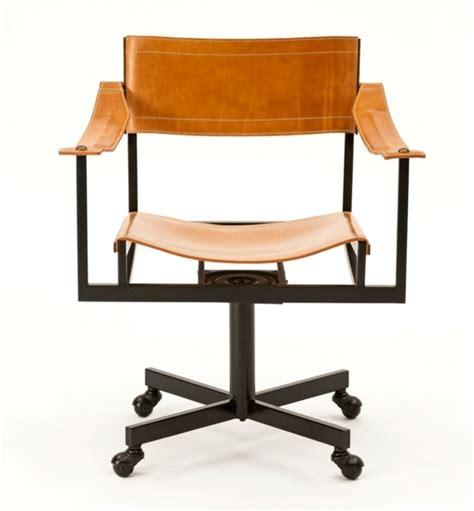 bureau cuir design chaise de bureau de design confortable et chic