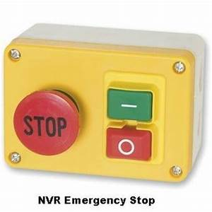 Nvr  No Volt Release  Motor Stop  Start Emergency Stop Switch  Lathe Mill Drill