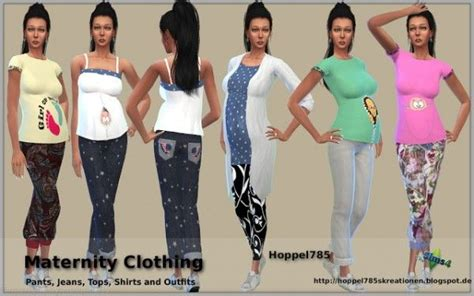hoppel maternity clothing sims  downloads sims