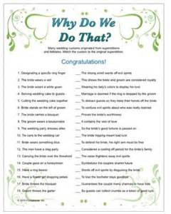 Trivia Questions For Bridal Shower by Wedding Trivia Why Do We Do That Tradition With Trivia