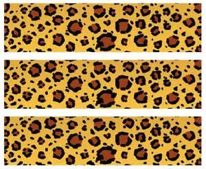 safari leopard print edible cake border decoration