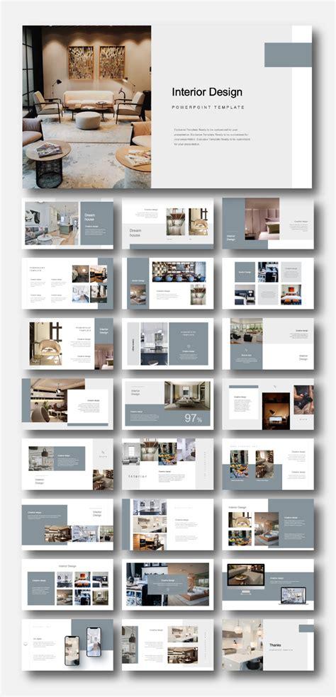 creative modern interior design powerpoint template