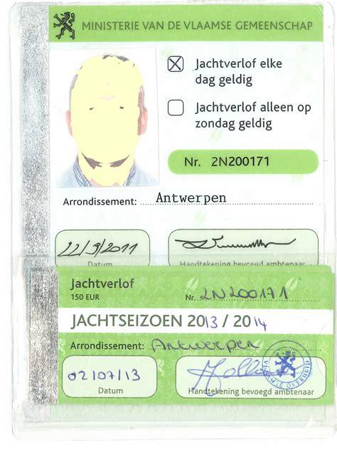 Jachtvergunning Nederland by Jachtakte Belgie Nederlandse Organisatie Voor Jacht En