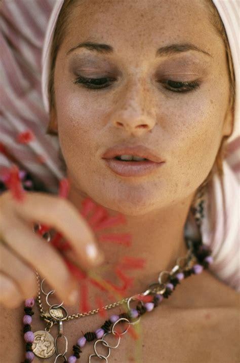freckles. Stephanie Beacham 1972   Beauty, Beautiful ...