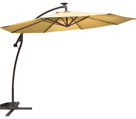 grand 9 solar cantilever umbrella yellow contemporary