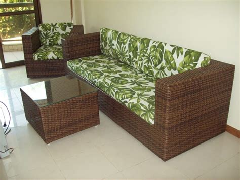sofa de vime dois lugares jogo de sofa de 2 lugares e 1 polrtona de fibra sintetica