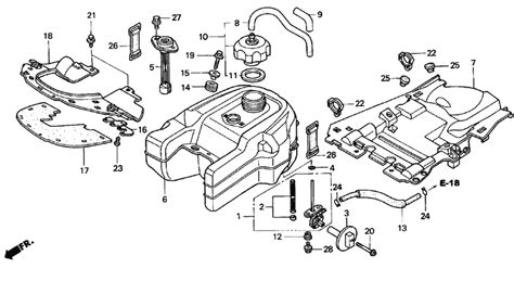 2005 honda rancher parts diagram fuel system honda auto wiring diagram