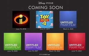 Pixar's Next 7 Films - Release Dates From 2018-2022 ...