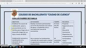 Plan De Acci U00d3n Tutorial De Bachillerato