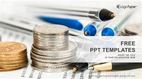 finance powerpoint template coins with financial statement powerpoint templates