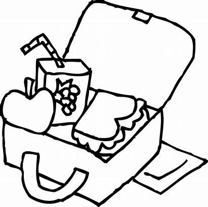 Lunch Box Lunchbox Clipart Coloring Pages Colouring