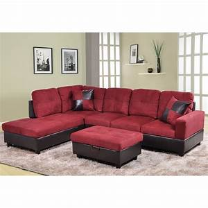 Cheap sectional sofa roselawnlutheran for Red sectional sofas cheap