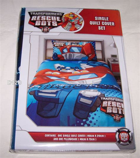 prime bedding transformers rescue bots optimus prime blue single bed