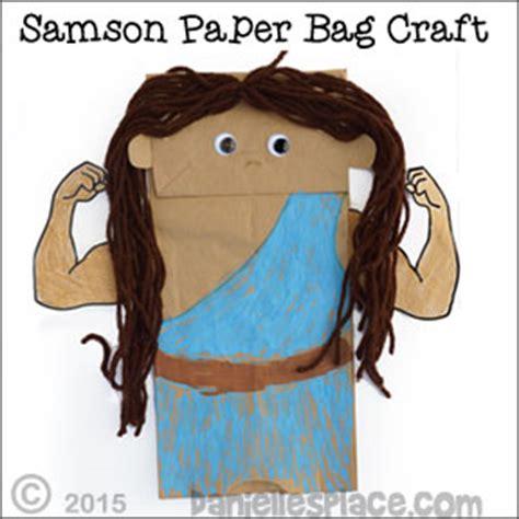 samson bible lesson for children 758   samson paper bag puppet craft