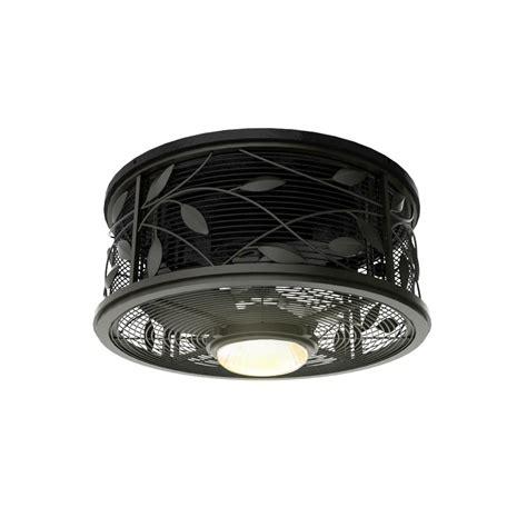 flush mount fan with light shop harbor breeze hive series 18 in aged bronze flush